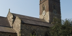 The north side of the church